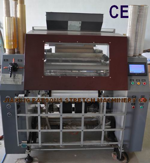 Automatic polythene stretch film rewinder machine, PPD-ARW500