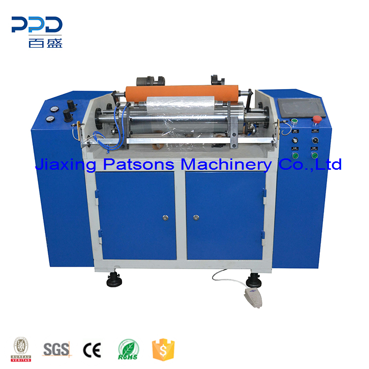 Food Cling Film Roll Rewinding Machine, PPD-FCFR450
