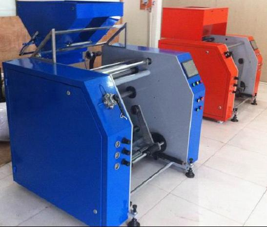 Food wrapping film rewinding machine,