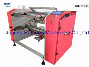 Automatic 4 shaft changing stretch wrap slitter rewinder