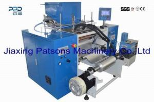 Automatic 6 shaft aluminum foil rewinder with labeling