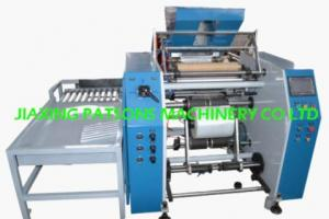 Pallet stretching wrapping film rewinding machine