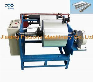 Single shaft manual aluminium foil rewinder